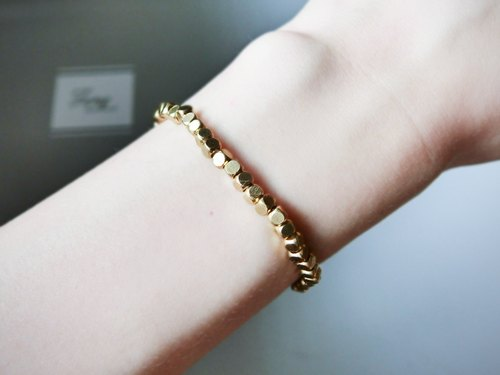 ❖FANG y [wild brass] small square brass basic section series bracelet