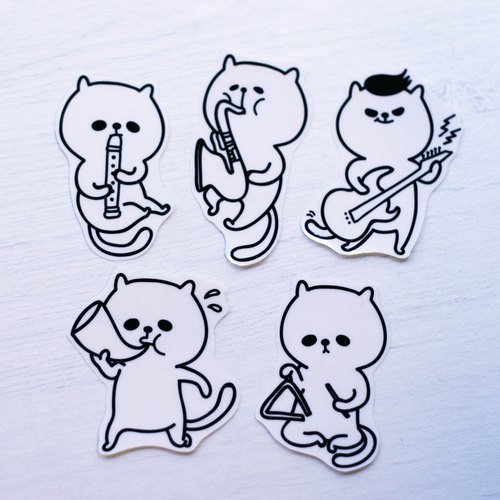 [Squeeze to pull the musical group Pa] - transparent stickers set # 1