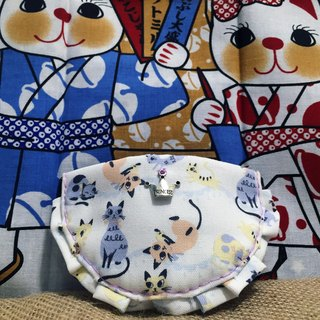 Cat pattern Bib cat dog pet collar S size