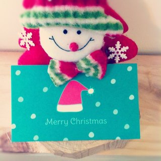KerKerland - Ringing Christmas Hat - Small Card (Business Card Size)
