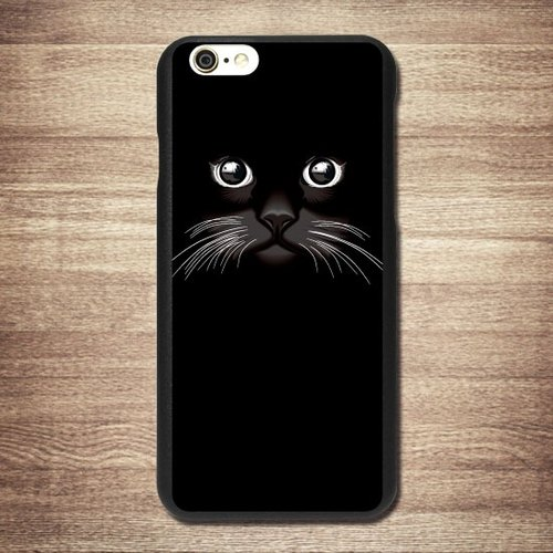 [Double Vision, black cat, meow star people] iPhone Black Phone Case - Big Tail rogue Valentine's Day