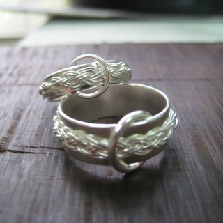 Braided Series - No.3 (Wide Edition) Silver Ring by Studio Studio d'EL