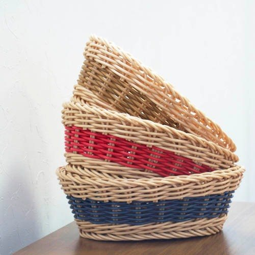 CB Latin series washable oval rattan storage basket color (a total of 3 colors)
