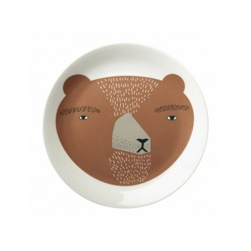 Bear bone china plate | Donna Wilson