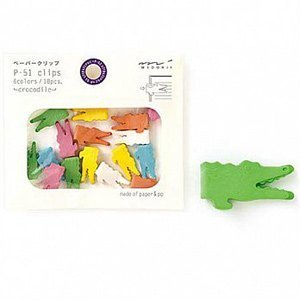 MIDORI P-51 Animal convenient clip - Crocodile