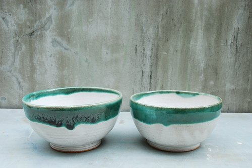 Yan Yan - hand-made duck bowl - Cyan