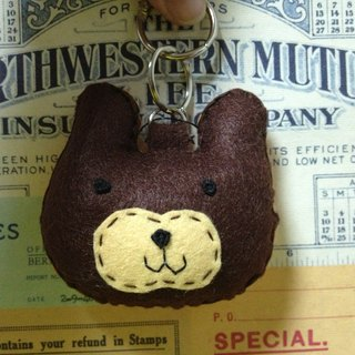 Chirp microphone keychain - Cute Bear (light pressure may sound)