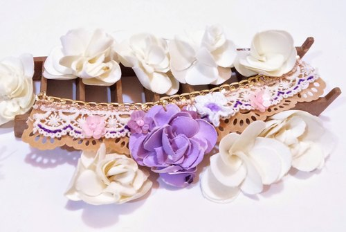 Cloth Rose Bracelet