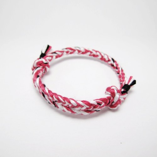 Orange Mu] [MUCHU cotton. Wishing woven bracelet