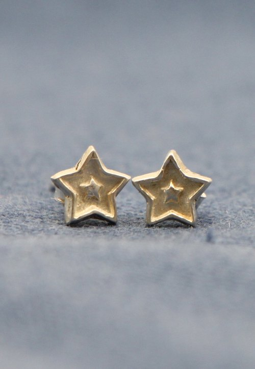 Solid stars. Silver Earrings