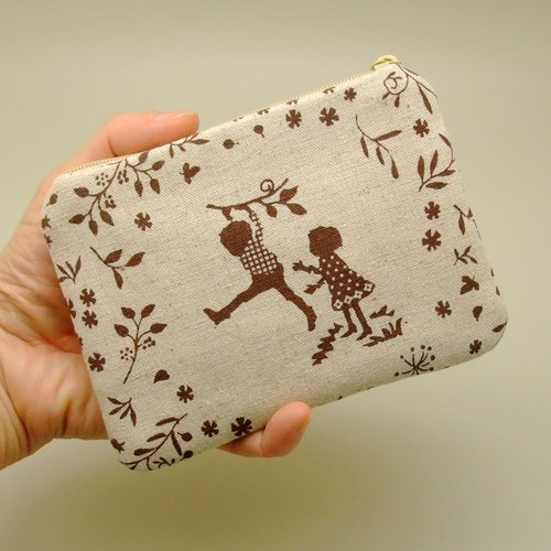 Zipper pouch / coin purse (padded) (ZS-155)