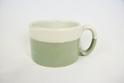 White + blue color mug _ _ fair trade