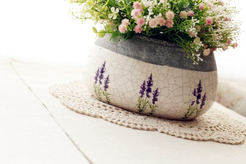 Good day [fetish] Nordic VINTAGE lavender flower / Pot
