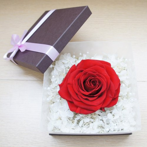 """Hand-made"" big roses Preserved flowers delicate flower gift rose red"