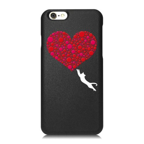 [Bit / pop style love] iPhone Black Phone Case - Big Tail rogue Valentine's Day