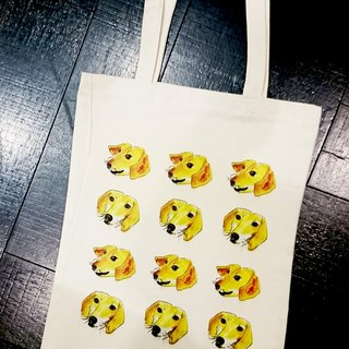 Cat and dog and owl with shopping bags -05- dog