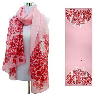 Ceiba Sports Day by Bambi long silk scarf