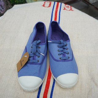 victoria Spanish nationals handmade shoes - (laces paragraph) gray-blue AZUL (out of print)
