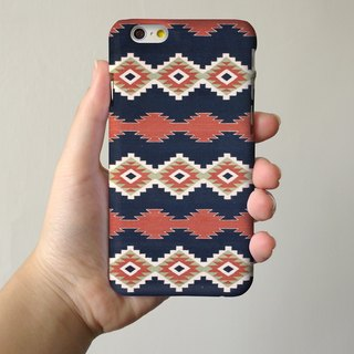 Dark Blue Navajo Tribal Pattern 3D Full Wrap Phone Case, available for  iPhone 7, iPhone 7 Plus, iPhone 6s, iPhone 6s Plus, iPhone 5/5s, iPhone 5c, iPhone 4/4s, Samsung Galaxy S7, S7 Edge, S6 Edge Plus, S6, S6 Edge, S5 S4 S3  Samsung Galaxy Note 5, Note 4,