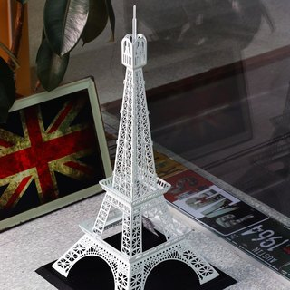 Dong Qi metalworking] [OPUS Eiffel Tower in Paris, France custom metalwork design / building model / metal decorating accessories / spatial design / home decoration (elegant white)