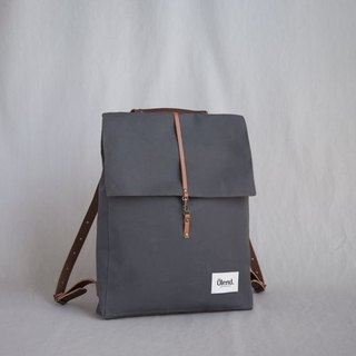 |100% handmade in Spain| Ölend Holden Fabric| Leather |Laptop bag (Grey)
