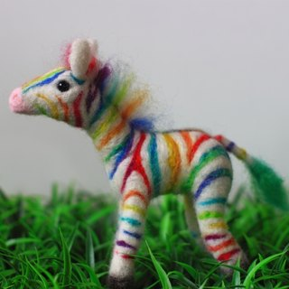 Rainbow zebra made to order