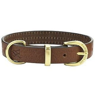 Wes [W & amp; S] three lines leather collar XS - brown, black