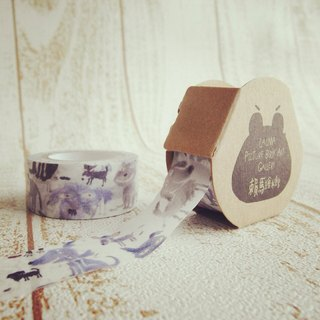Nearby dogs illustration of paper tape Laima Masking tape illustrations