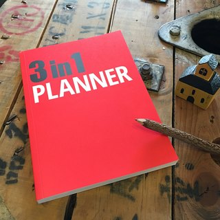 [Nuts Design] 3 in 1 Planner 筆記本 - 紅