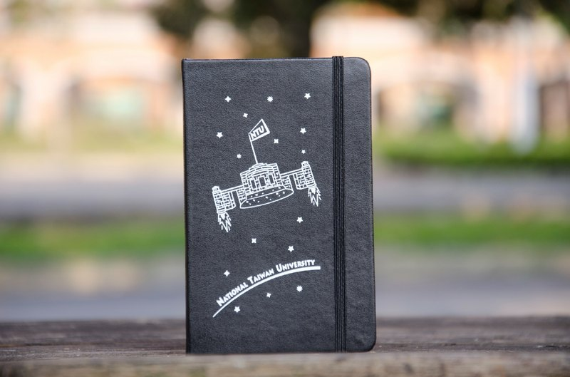 NTU Publishing Center legendary original // Moleskine notebook. Rocket school notebook. Black.