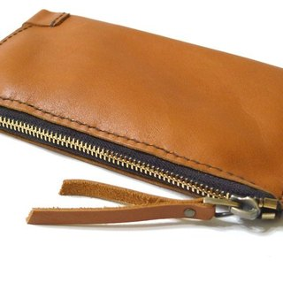 Travel protection money bag long leather folder _ Sew travel a good thing - brown section