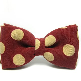 ▲ great circle little bow tie - chestnut red rice Hand-made Bow Tie