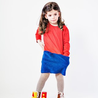 Spain hit the color red and blue dress