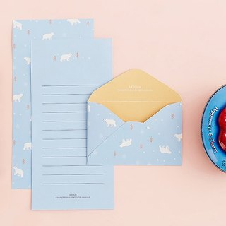 ARDIUM cute animal stationery group (a group of three) - Polar Bear