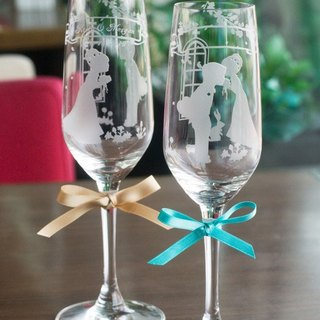 【Lifetime Promise glass champagne flutes】