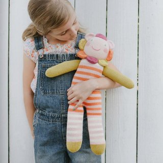 American Blabla Kids | Cotton Knit Doll (Big Only) - Stripe Small Flowers
