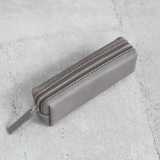 Gray classy Leather Pencil Case/Pen Pouch