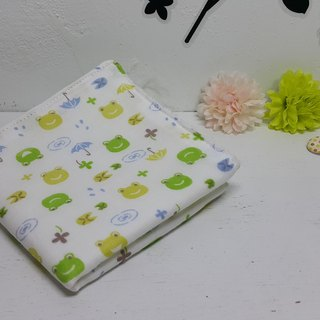 Quack green towel double gauze handkerchief saliva towel absorbent towel