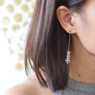 PUNTI - Tiny Glass Bubbles Long Earrings