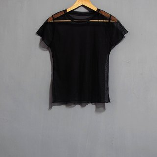 Wahr_ black mesh tops