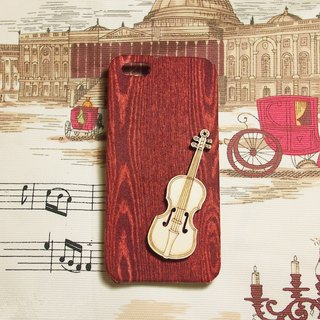 Birthday classical violin wood cloth protective sleeve shell phone HTC One 2 M8 M7 mini J Apple iPhone 5s 5 4s 4