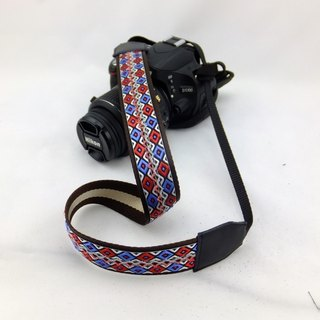 Camera strap can print personalized custom leather stitching national wind embroidery pattern 039