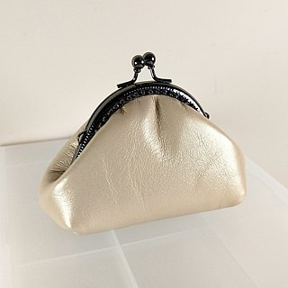 Gold leather bag (mouth gold bag models)