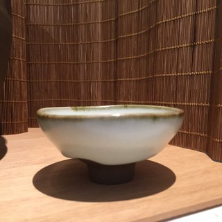 Lin Jianhong teacher hand-made piece wide open cup glaze