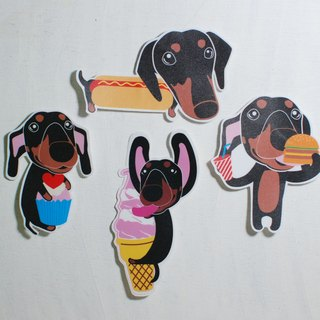 Mao child sticker / Dachshund / waterproof stickers