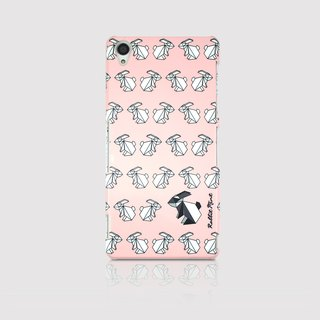 (Rabbit Mint) Mint Rabbit Phone Case - Pink Origami Rabbit Series - Sony Z3 (P00070)