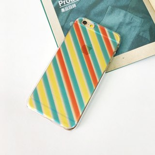 Diagonal Stripes Orange Yellow Green Print Soft / Hard Case for iPhone X,  iPhone 8,  iPhone 8 Plus,  iPhone 7 case, iPhone 7 Plus case, iPhone 6/6S, iPhone 6/6S Plus, Samsung Galaxy Note 7 case, Note 5 case, S7 Edge case, S7 case
