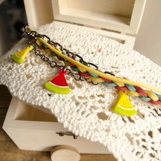 Watermelon / multilevel bracelet / remember the summer you eat watermelon