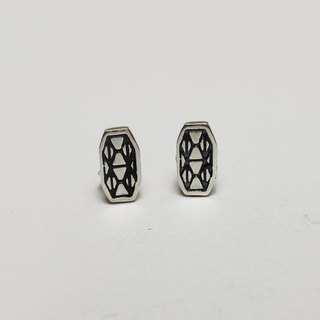Mosaic Line 02  925Silver Earring pin