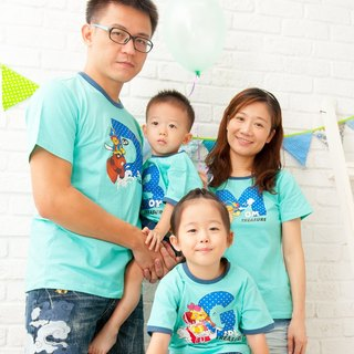 [Treasure hunt adventure (big boy / dad)] parent-child / short-sleeved T-shirt